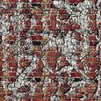 レンガの壁に石壁が融合