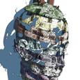 3D-CGから創造した頭部のパッチワーク2