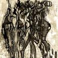 「祭り前夜の予感」-79回版画展(日本版画協会)応募作品