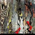 「隙間からのぞく世界」-79回版画展(日本版画協会)入選作品