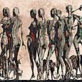 「アフリカ行進曲」---モミュ個展作品No12