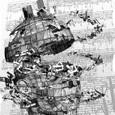 「島の音(ね)I」---ピクセル2010展小品