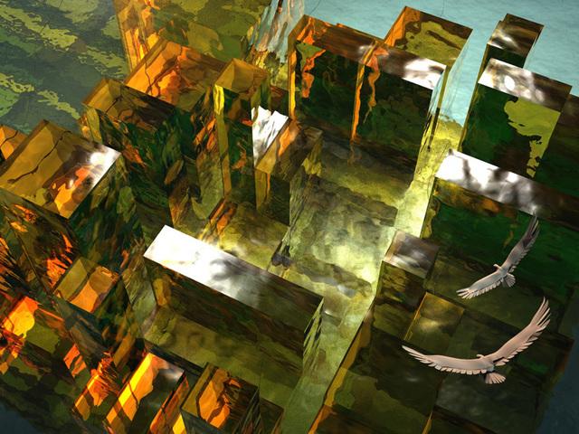 仮想ビル群の光と影3