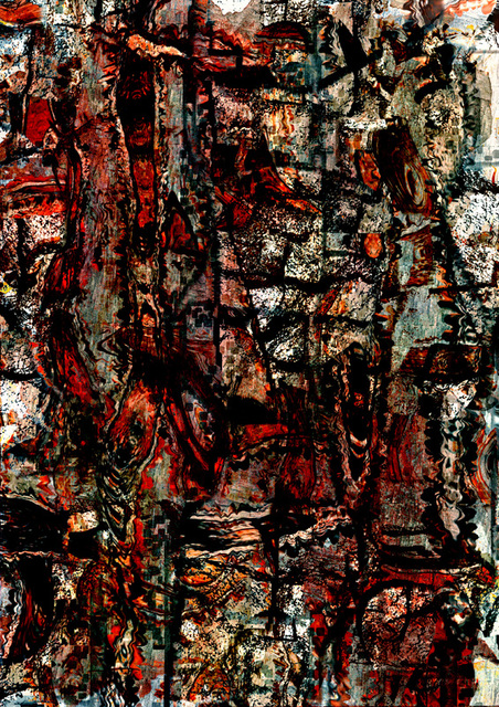 抽象表現主義的な世界を作った