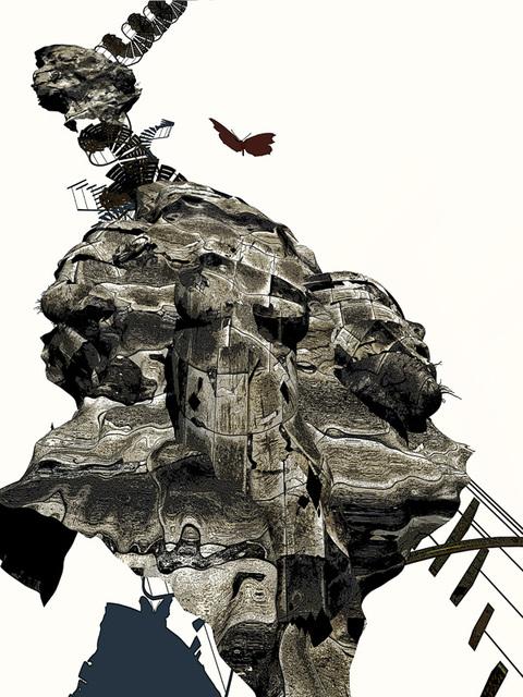 3D-CGから創った質感作品4--未来への架け橋