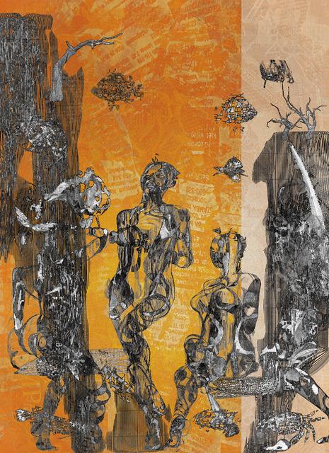 「さまよい人」---「デジタル版画」展作品No.10