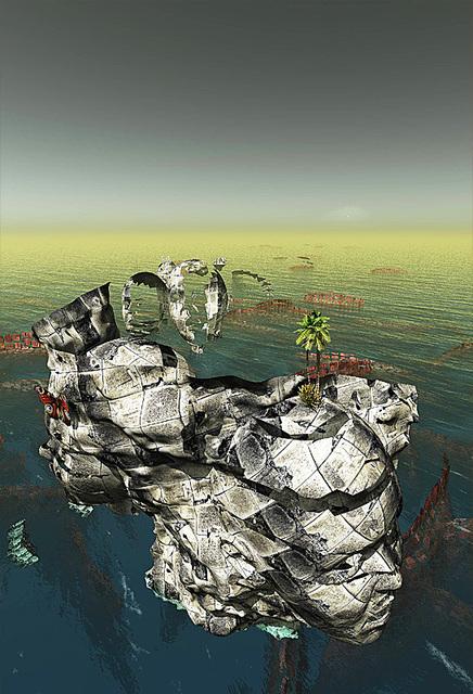 「列島の果て」---モミュでの個展作品No.7