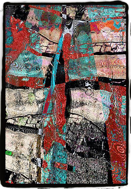 黒い枠をつけた抽象画