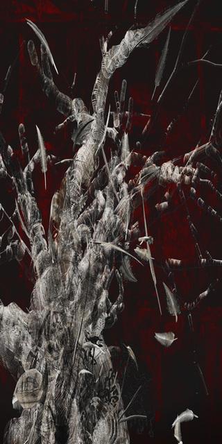 「想い出の里」---「デジタル版画」展作品No.3