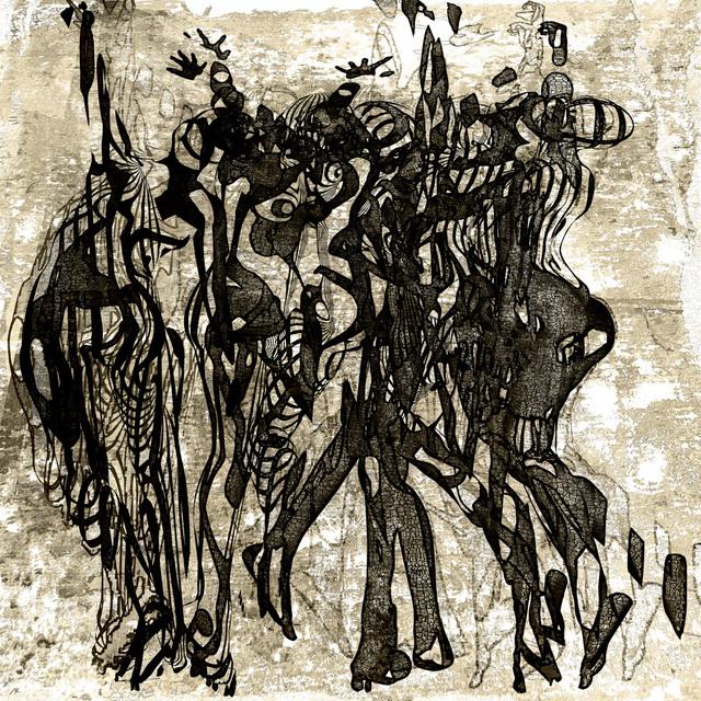 「喜びに沸く」---「デジタル版画」展作品No.5