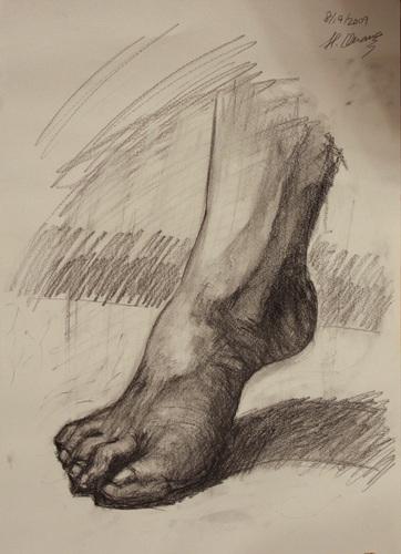 鉛筆デッサン-足