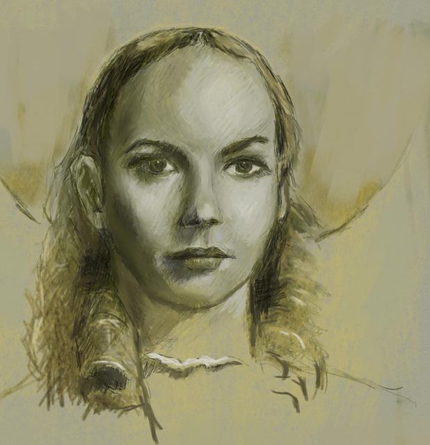 「ジェニファーの肖像」の模写に再チャレンジ