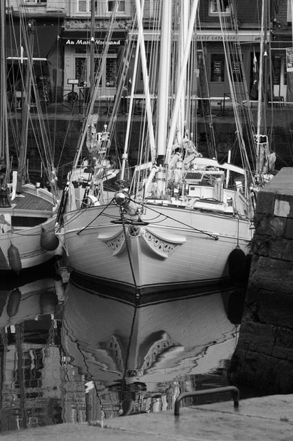 ノルマンディーの古い港町が圧巻