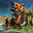 「怒れる島」---50神奈川旺玄展入選作品2