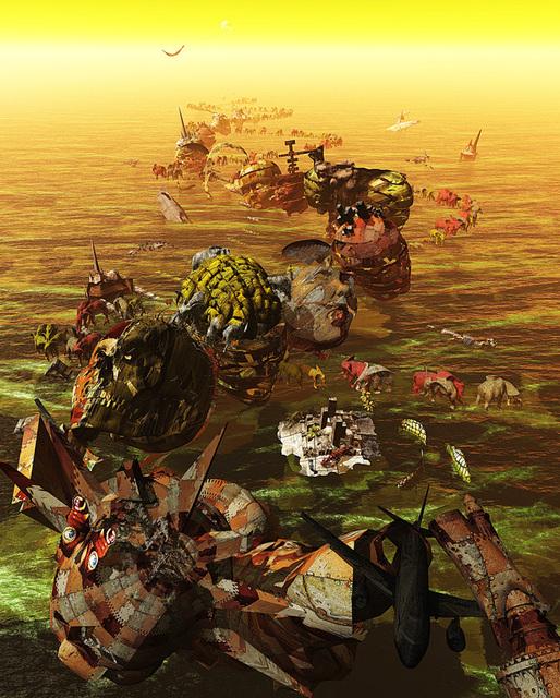 「受難列島」---50神奈川旺玄展入選作品1